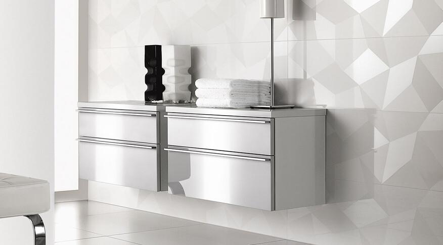 Villeroy & Boch BiancoNero Dekor 30x60 white Kristall