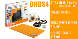 Schlüter DITRA-HEAT-E-DUO-S 0x0cm DHDS4